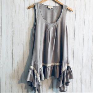 ModCloth Asymmetric Tunic Dress Tank Top Boho